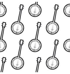 Banjo seamless background pattern vector image vector image