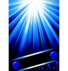 beautiful blue design template vector image