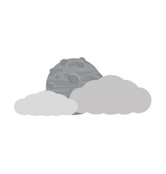 clouds and moon icon vector image vector image