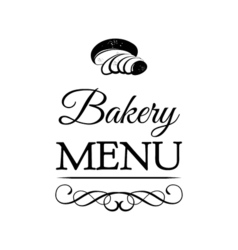 design for bakery or baking shop emblem with hand vector image