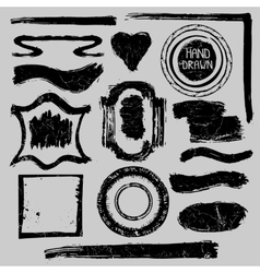 Distressed stamps setgrunge badgeslabelsframe vector