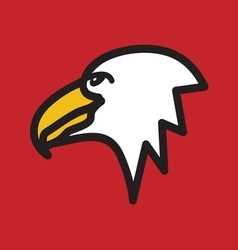 Eagle simple icon vector