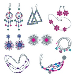 Fashion jewelry vector