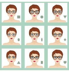 Female face shapes set vector