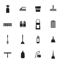 flat housework icons set vector image