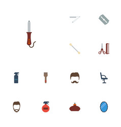 Flat icons hairstylist hairdresser perfume and vector