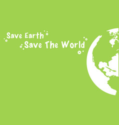 happy earth day style design vector image