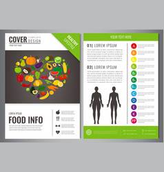 Healthy lifestyle brochure design template vector