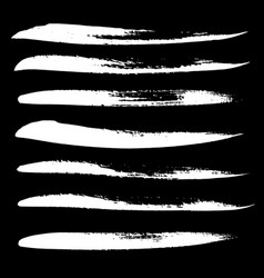 Ink brush strokes set vector