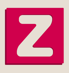 Letter z sign design template element vector
