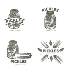 pickles logo templates vector image vector image