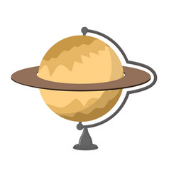saturn school globe planet geographical sphere vector image
