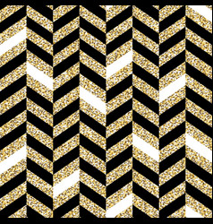 Seamless chevron pattern glittering golden vector
