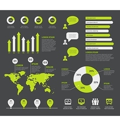 set of infographic elements with icons vector image