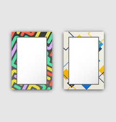 set of two frame pattern on vector image