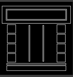 Shopfront white color path icon vector