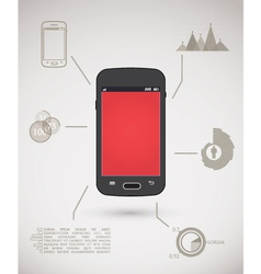 Smart phone inforgraphic vector image