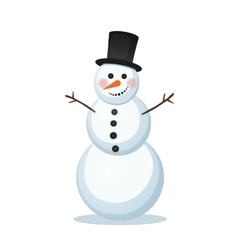 snowman in a top hat vector image vector image