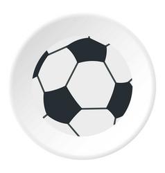 soccer or football ball icon circle vector image vector image