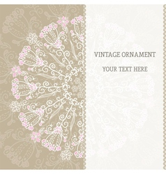 Vintage ethnic ornament mandala background vector image vector image
