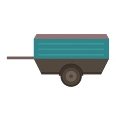 Vehicle trailer vector