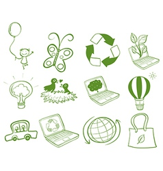 Eco-friendly designs vector