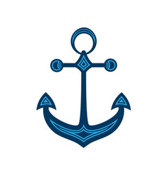 Water anchor with geometric pattern logo vector