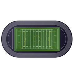 American football field top view vector
