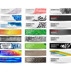 Colorful banner set of twenty-four set 5 vector