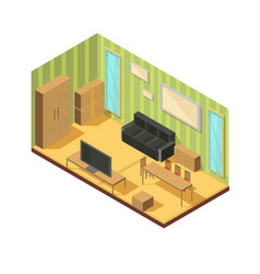 Front room furniture composition vector