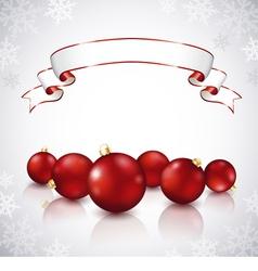 Christmas red balls vector