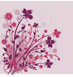 Floral arrangement design vector
