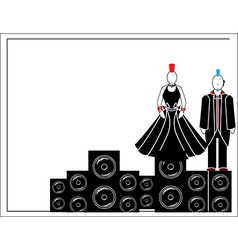 Punks with speakers 2 vector image