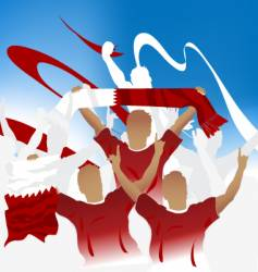 Bahrain crowd vector