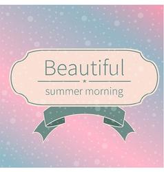 Summer morning vector image