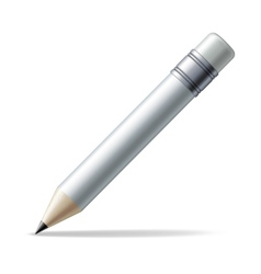 White pencil vector