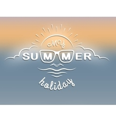 Emblem on the theme of summer vacation vector