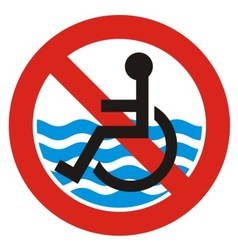 No access beach vector