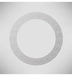 Greek Ornamental Circle Frame vector image