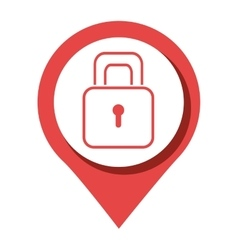Security padlock round icon graphic vector
