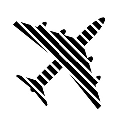 Airplane button on white vector