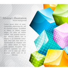 Abstract colorful cubes vector