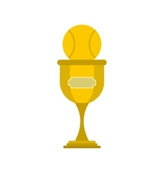 Baseball trophy flat icon vector