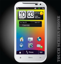 Touch screen phone vector