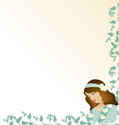 Vintage card women vector
