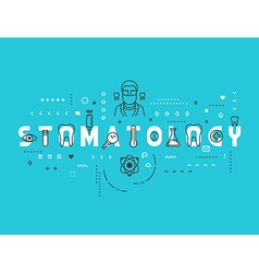 Medicine concept stomatology vector image