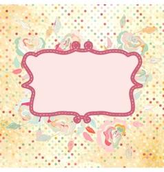 Vintage dots Rose Floral Card vector image