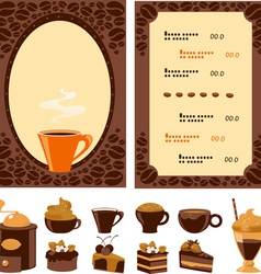 Menu for cafe vector image