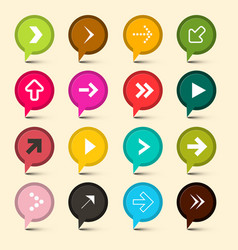 Arrows symbols colorful circle icons arrow vector