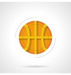 Basketball ball flat color design icon vector image vector image